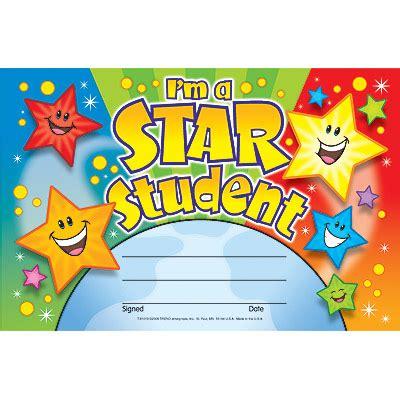 Homework star certificate